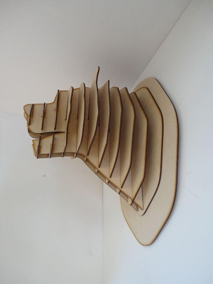 cabeza de oso mdf cabeza de animal trofeo rompecabezas 3d ...