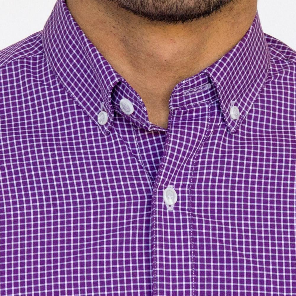 Purple Amp White Grid Check Shirt Jesse Shirts Long