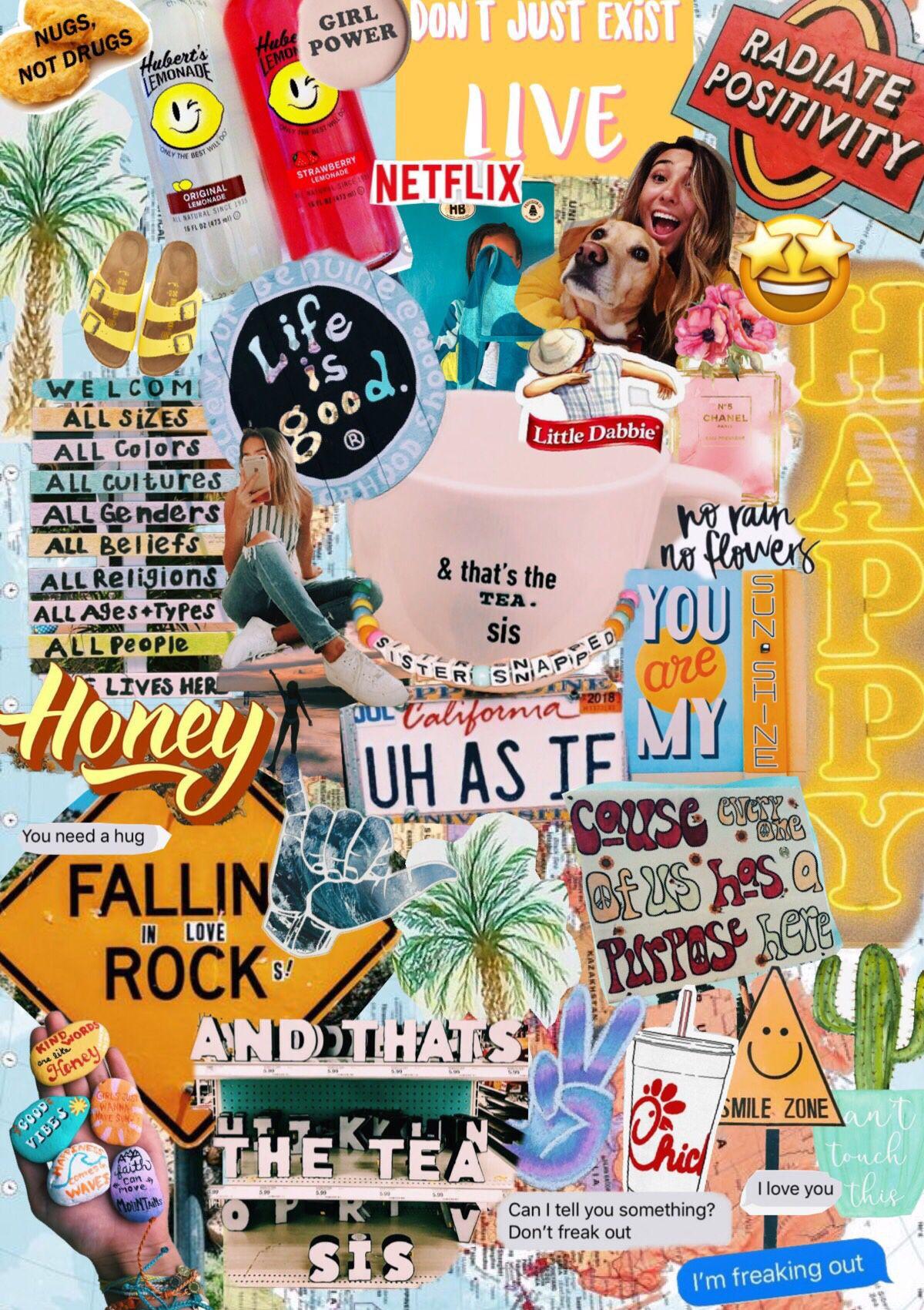 Collage Iphone Wallpaper Vsco Aesthetic Pastel Wallpaper
