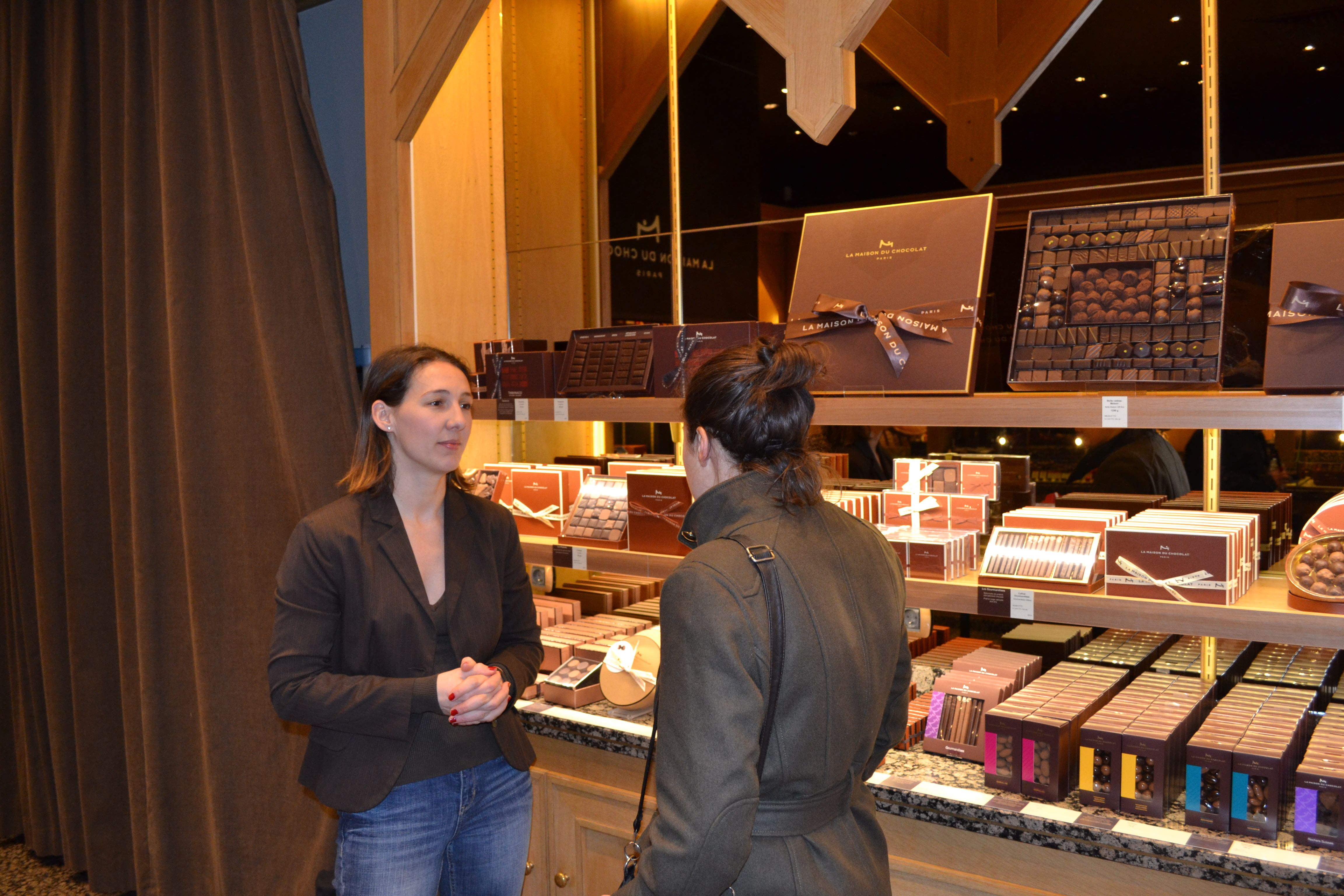 Chocolate Tour - our chocolate guide Carine in La Maison du Chocolat