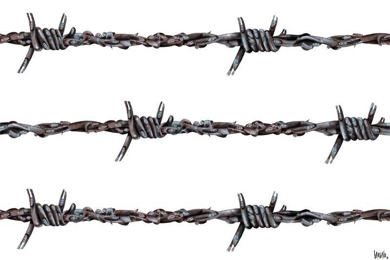 Vasco Gargalo (2016-03-25) Refugees. Barbed wire in Europe ...