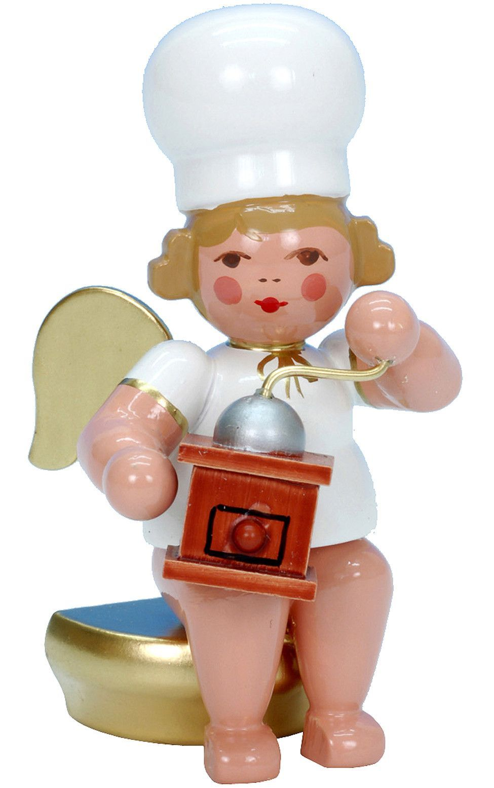 Christian Ulbricht Angel Baker Ornament with Coffee Mill