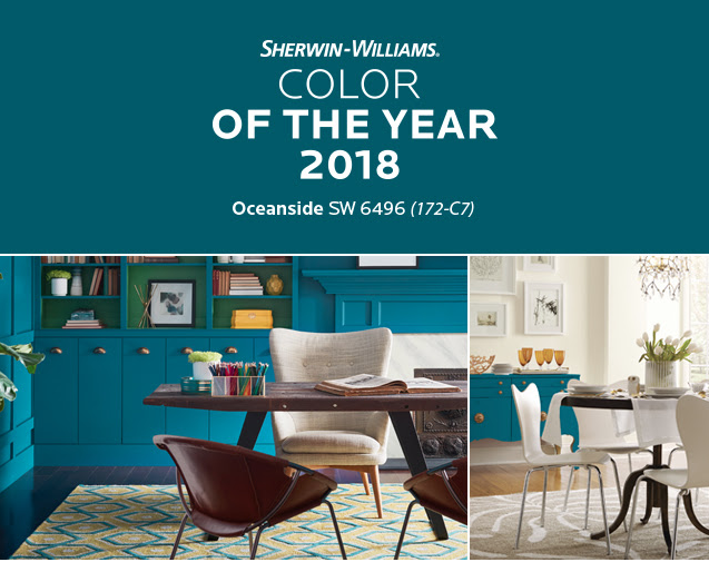 Oceanside Is Sherwin Williams 39 2018 Color Of The Year