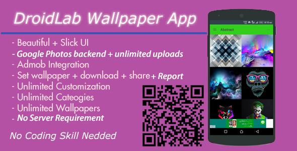 Wallpaper App with Google Photos Backend - No Server Needed