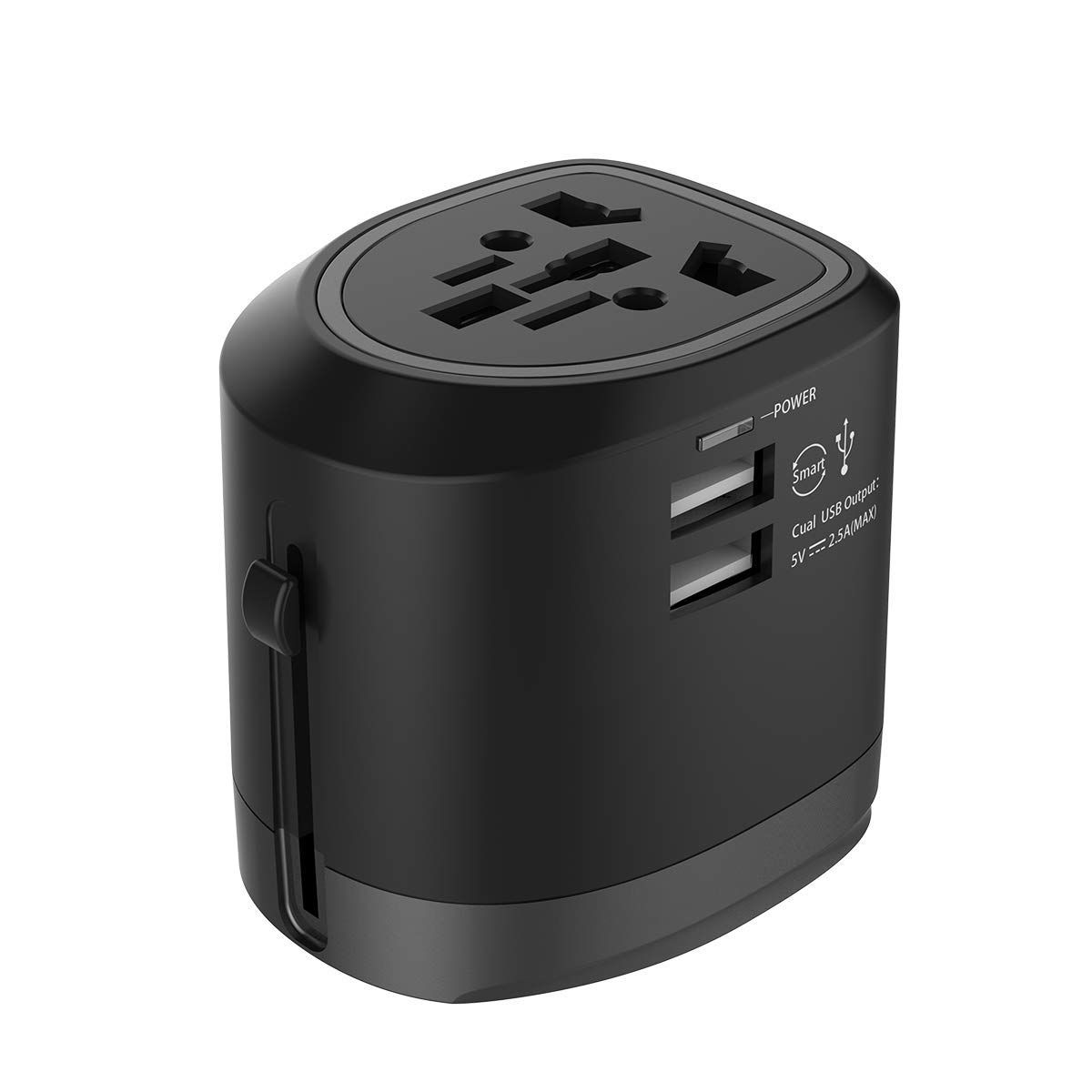 Dual USB Travel Adapter Universal Power Converter AC Plug Wall Charger White