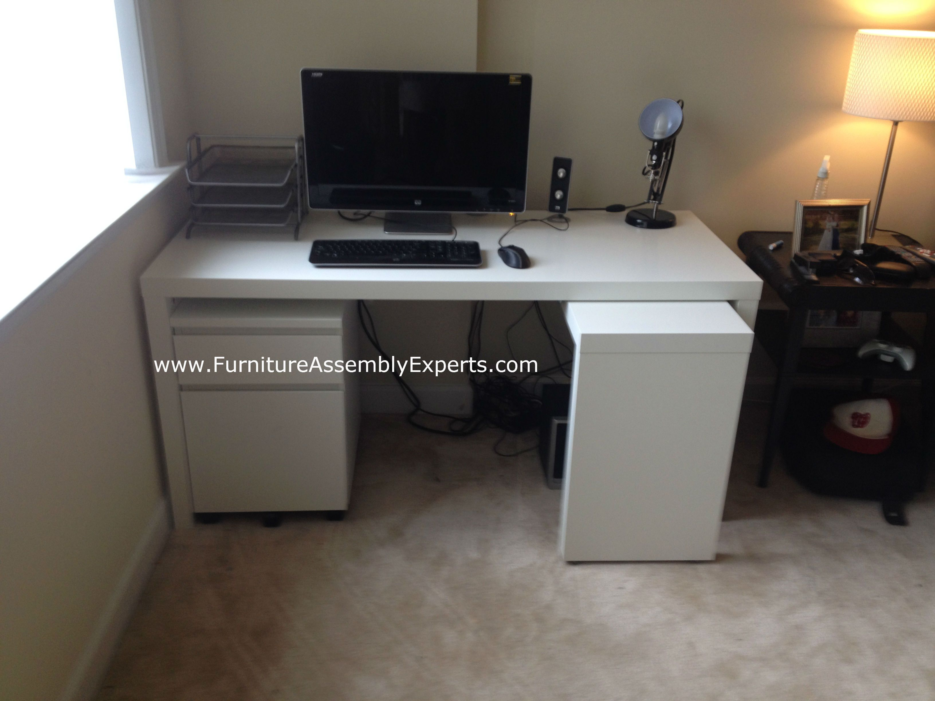 ikea malm desk assembled at quincy plaza apartments in arlington va for a customer moving in by. Black Bedroom Furniture Sets. Home Design Ideas