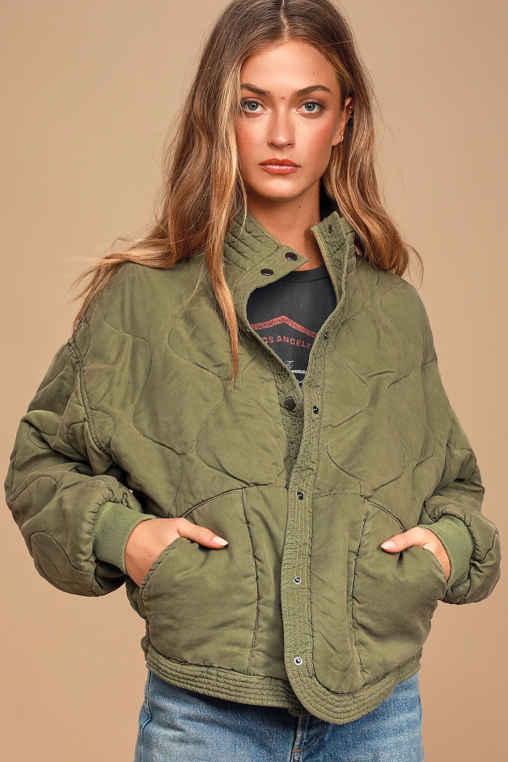 Roger That Olive Green Quilted Jacket In 2021 Quilted Jacket Womens Fashion Jackets Olive Green Puffer Jacket Outfit [ 1500 x 1000 Pixel ]