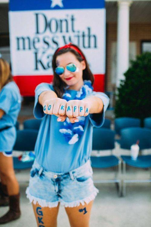 Texas themed Kappa bid day