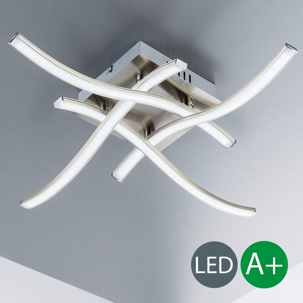 Details zu LED Deckenleuchte Design Decken-Lampe Küchen Wohnzimmer ...
