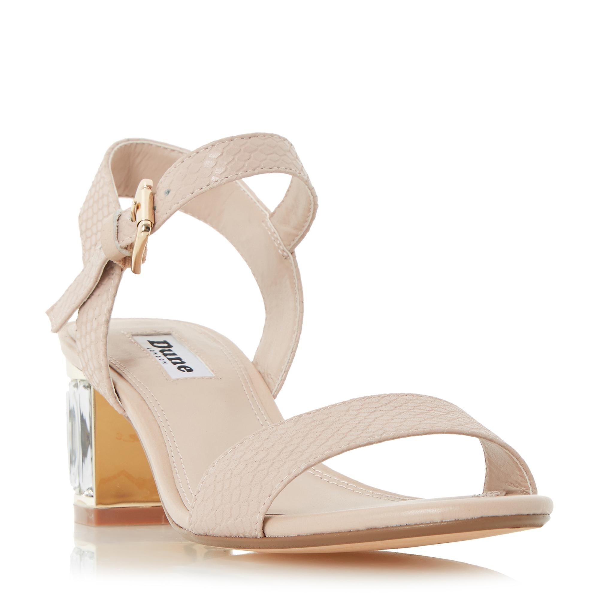 9f8e204ff52e6f DUNE LADIES MARCIA - Jewelled Block Heel Sandal - nude