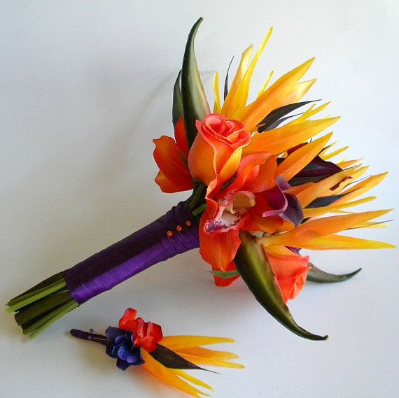 Tropical Bird of Paradise Bridal Bouquet in by BlueLilyBridal ...