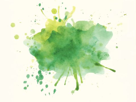 Green Watercolor Effect Watercolor Clipart Gradual Change