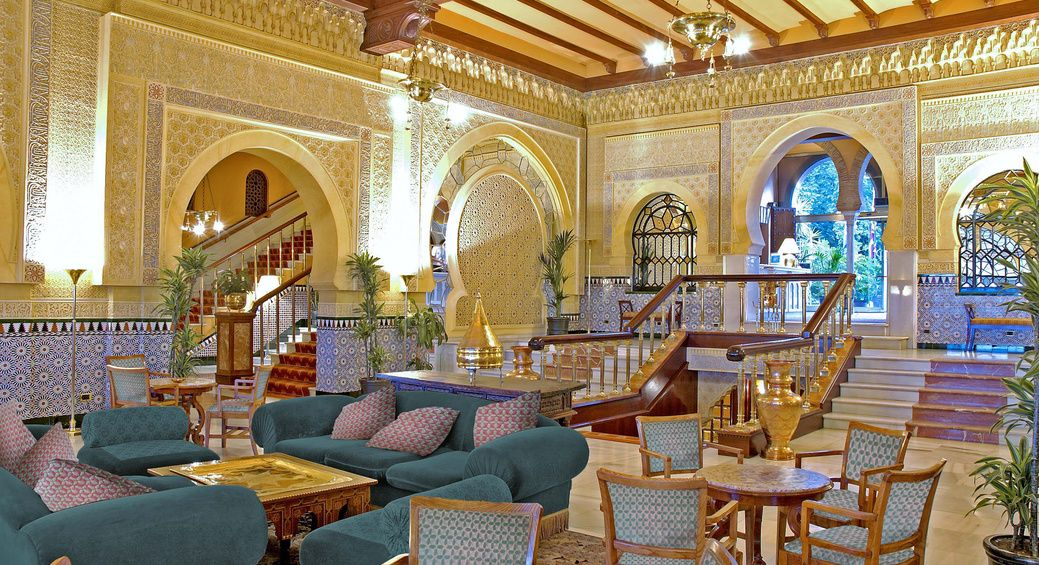 The Lobby In Alhambra Palace Hotel Spain