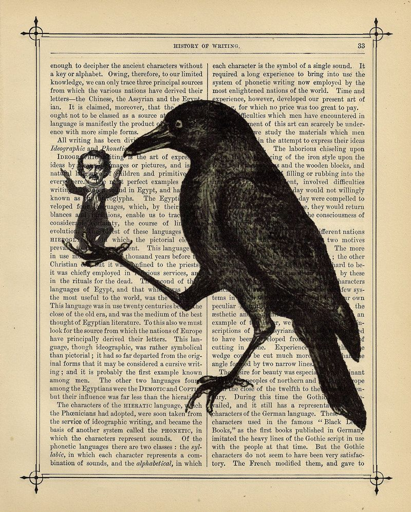 Art inspired by the writing of Edgar Allan Poe #literaryart http ...