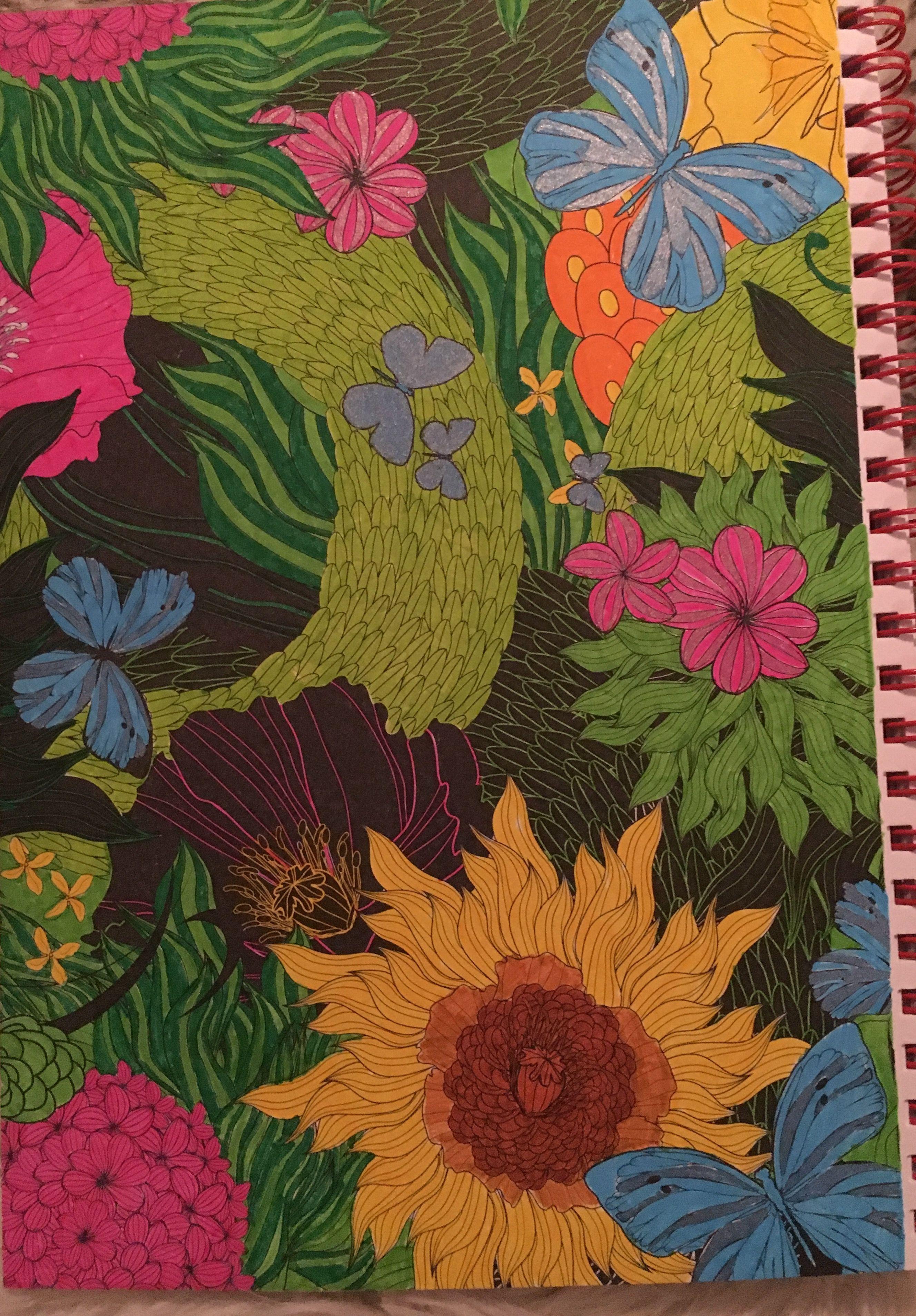 """Kleurplaat uit """"het enige echte kleurboek voor volwassenen op reis"""" door Aurélie."""