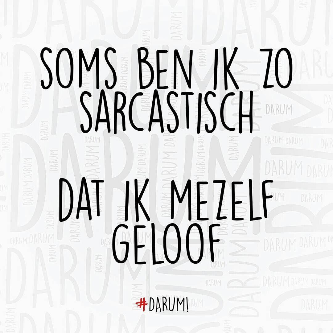 """#darum #sarcasme"""