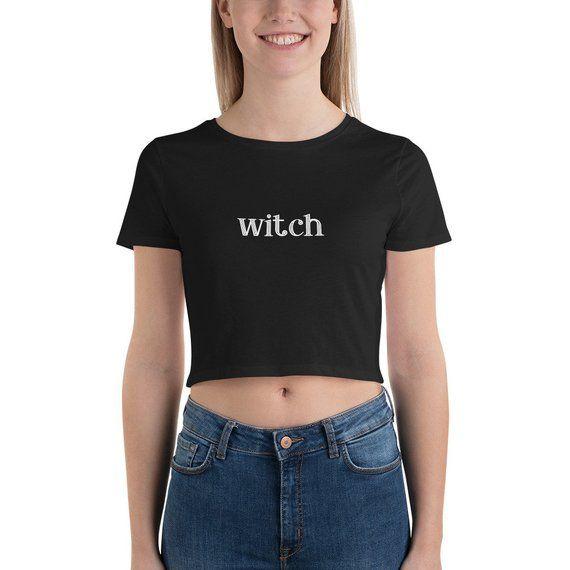T-shirt Witchy Woman Halloween Women/'s Black