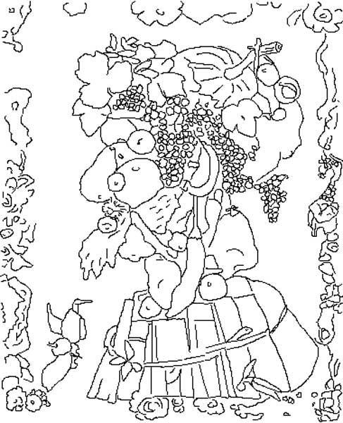 Giuseppe Arcimboldo Coloring