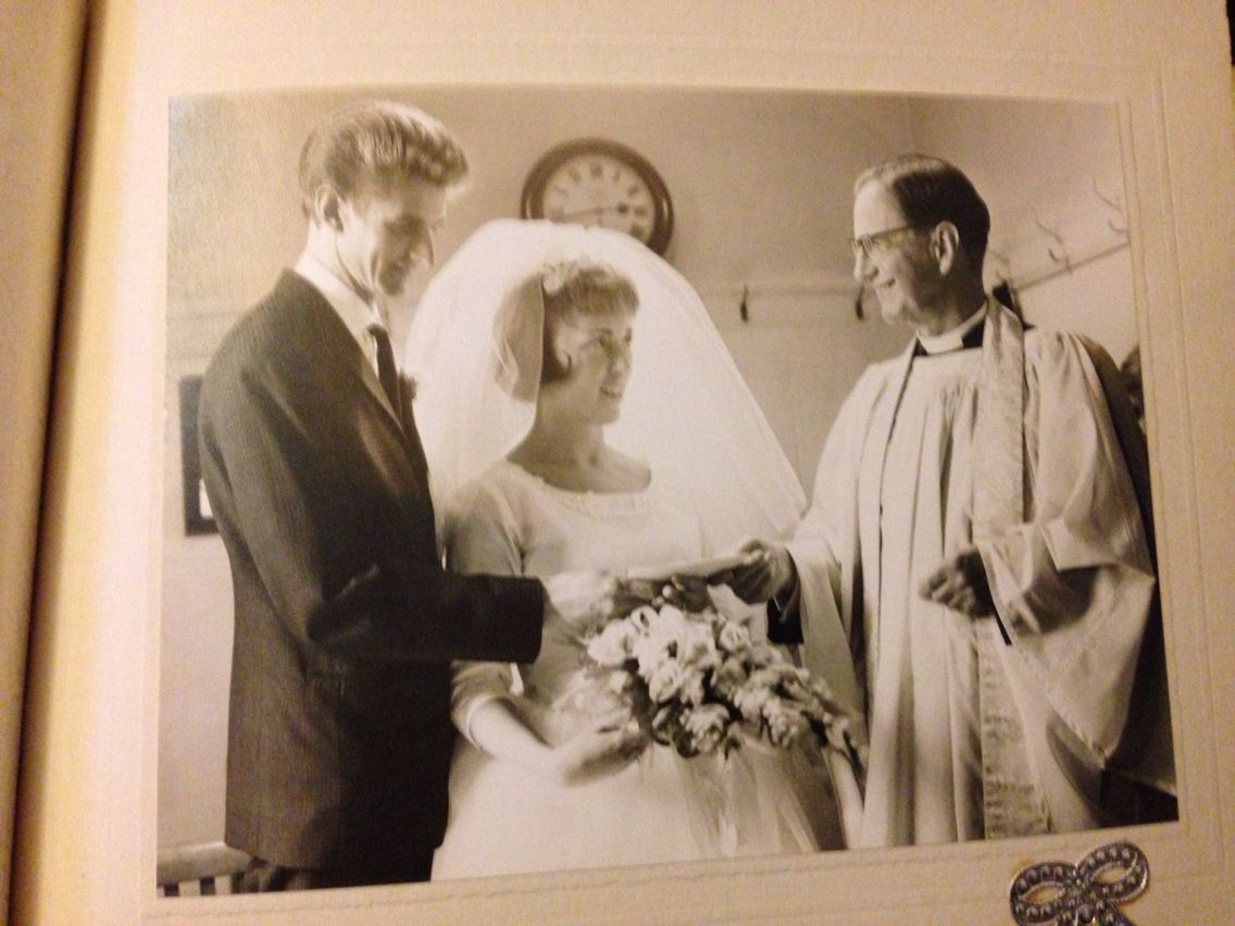 "Joan and Arthur ""I do"""