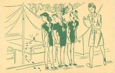 POSTCARDY: the postcard explorer: Vintage Girl Scout Uniform Fashions