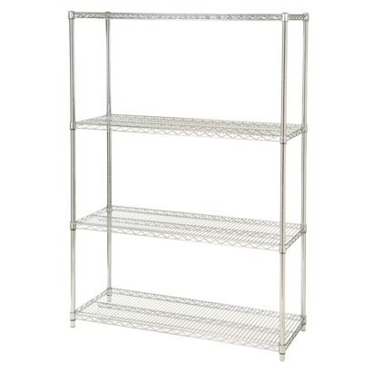 Seville 4-Shelf Commercial Garage Wire Shelving | For the Home ...