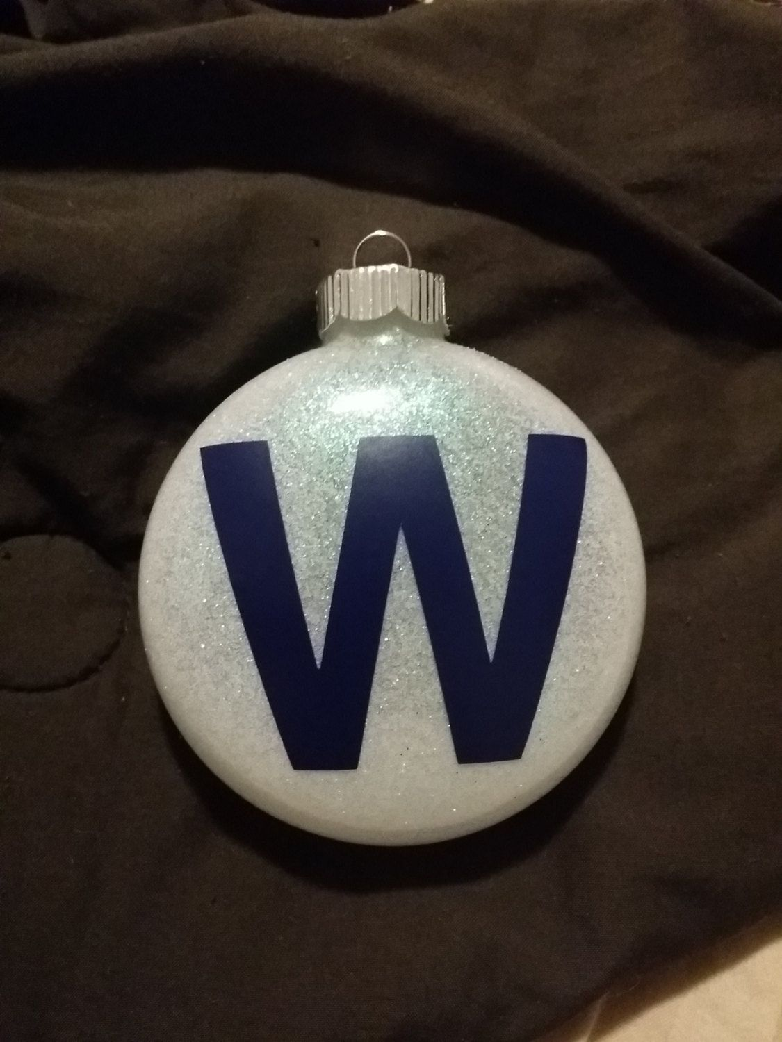 Handmade christmas ornaments on etsy - Chicago Cubs Fly The W Glitter Ornament By Merrygerricreations On Etsy Glitter Ornamentschristmas Ornamentsdiy