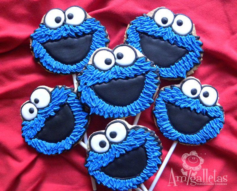 Cookie monster cookies royal icing cookies pinterest cookie cookie monster cookies voltagebd Images