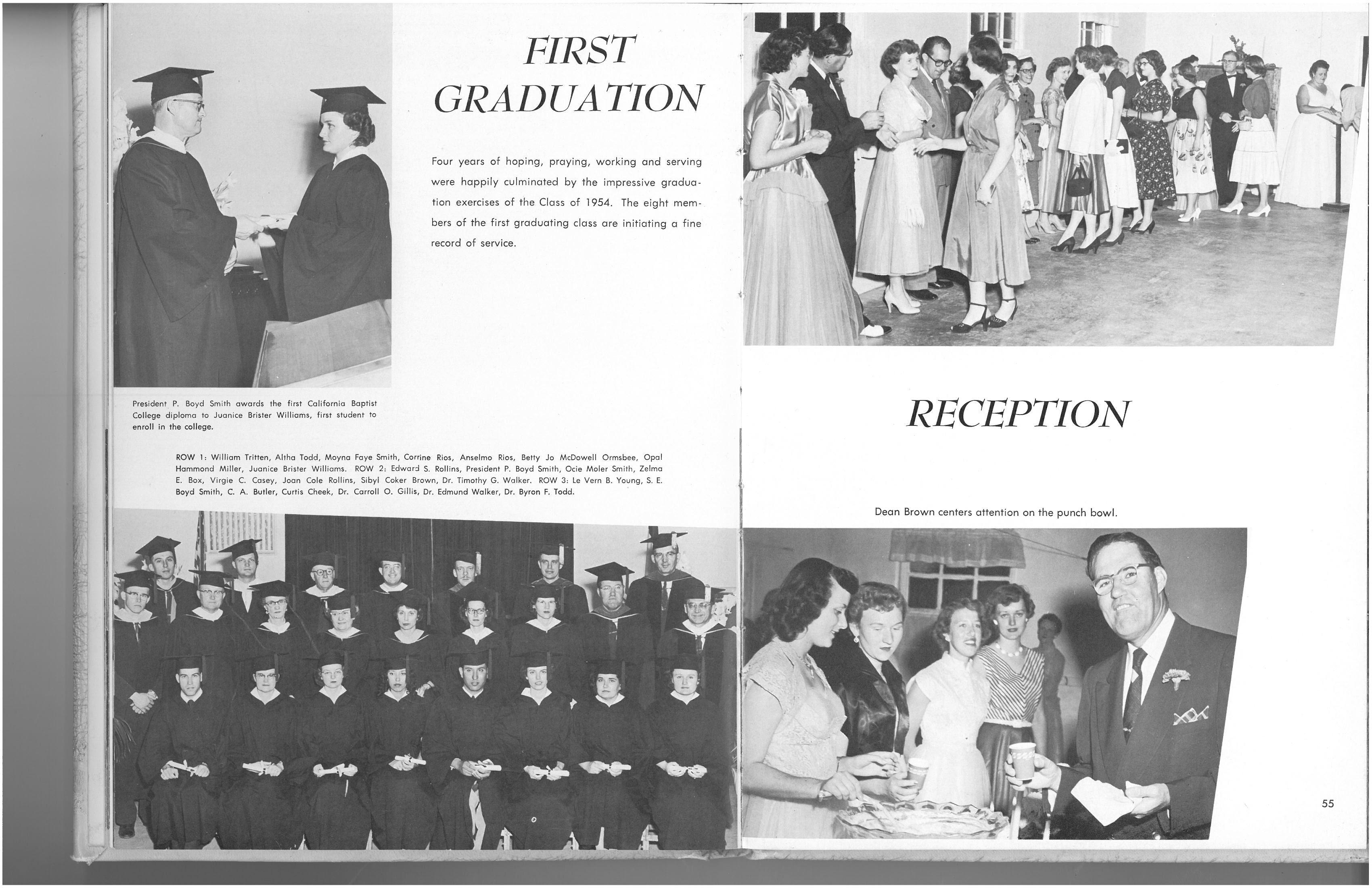 1955 - CBC's First Graduation!!!