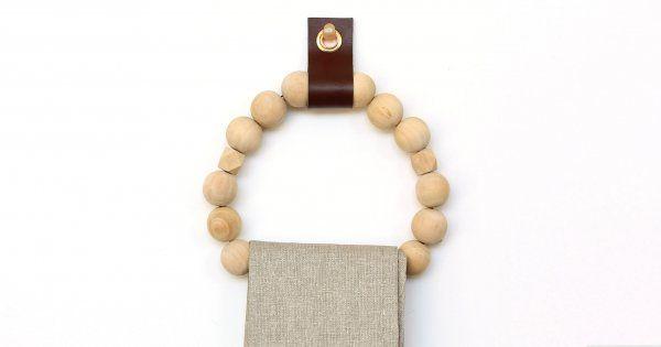 Fabriquer son porte serviette avec des perles en bois