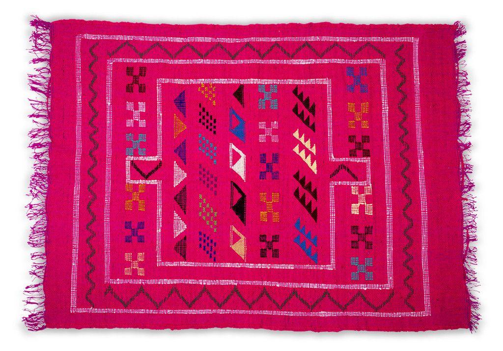 Pink Moroccan Flatweave Rug- II