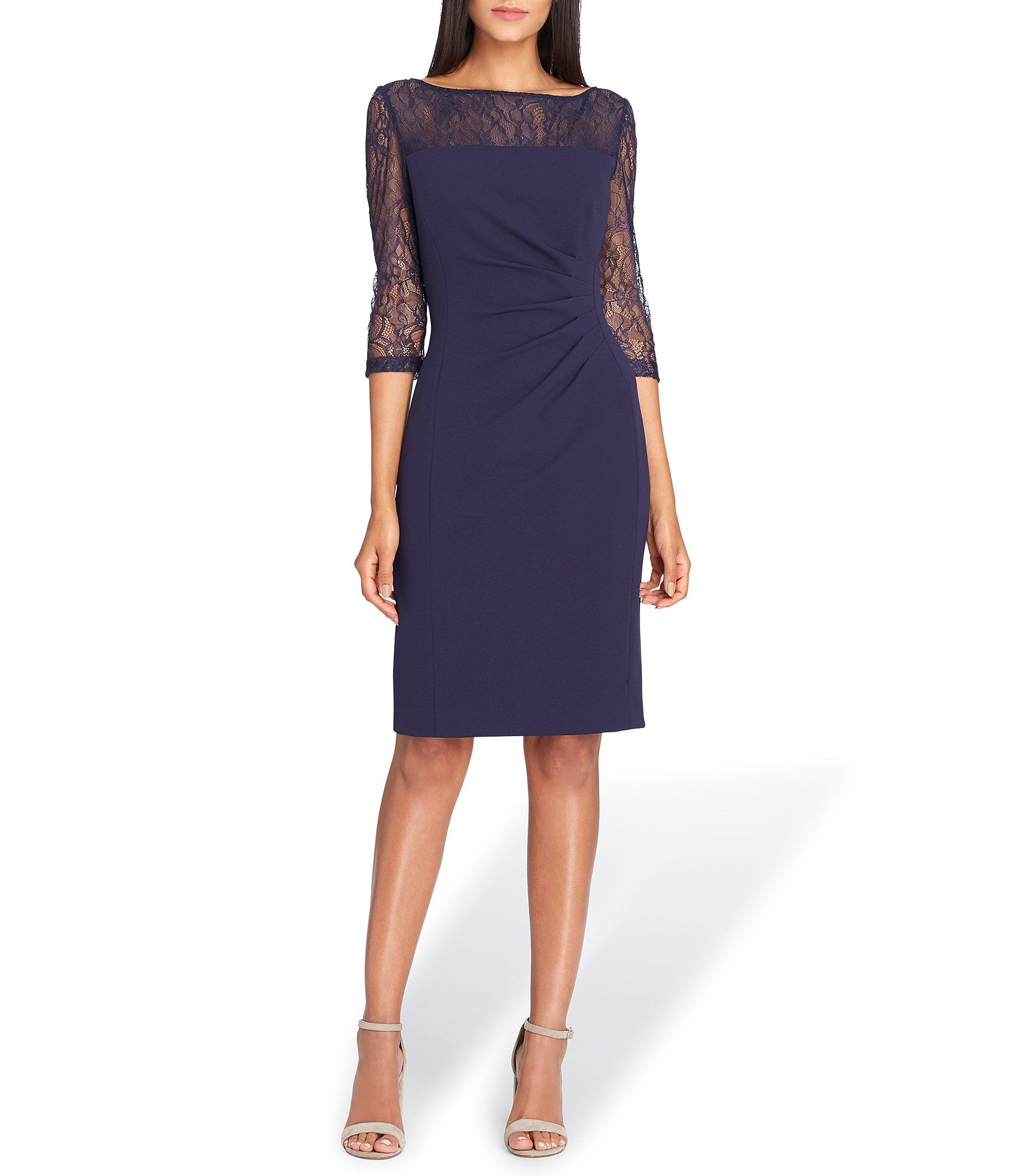 Shop for Tahari ASL Lace Neckline Sheath Dress at Dillards.com ...
