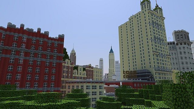 ◅u003dThe Manhattan Projectu003d▻ New York City 1936 Minecraft Project - copy flat world survival map download