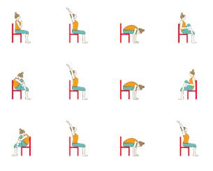 chair yoga  chair surya namaskar chair sun salutation