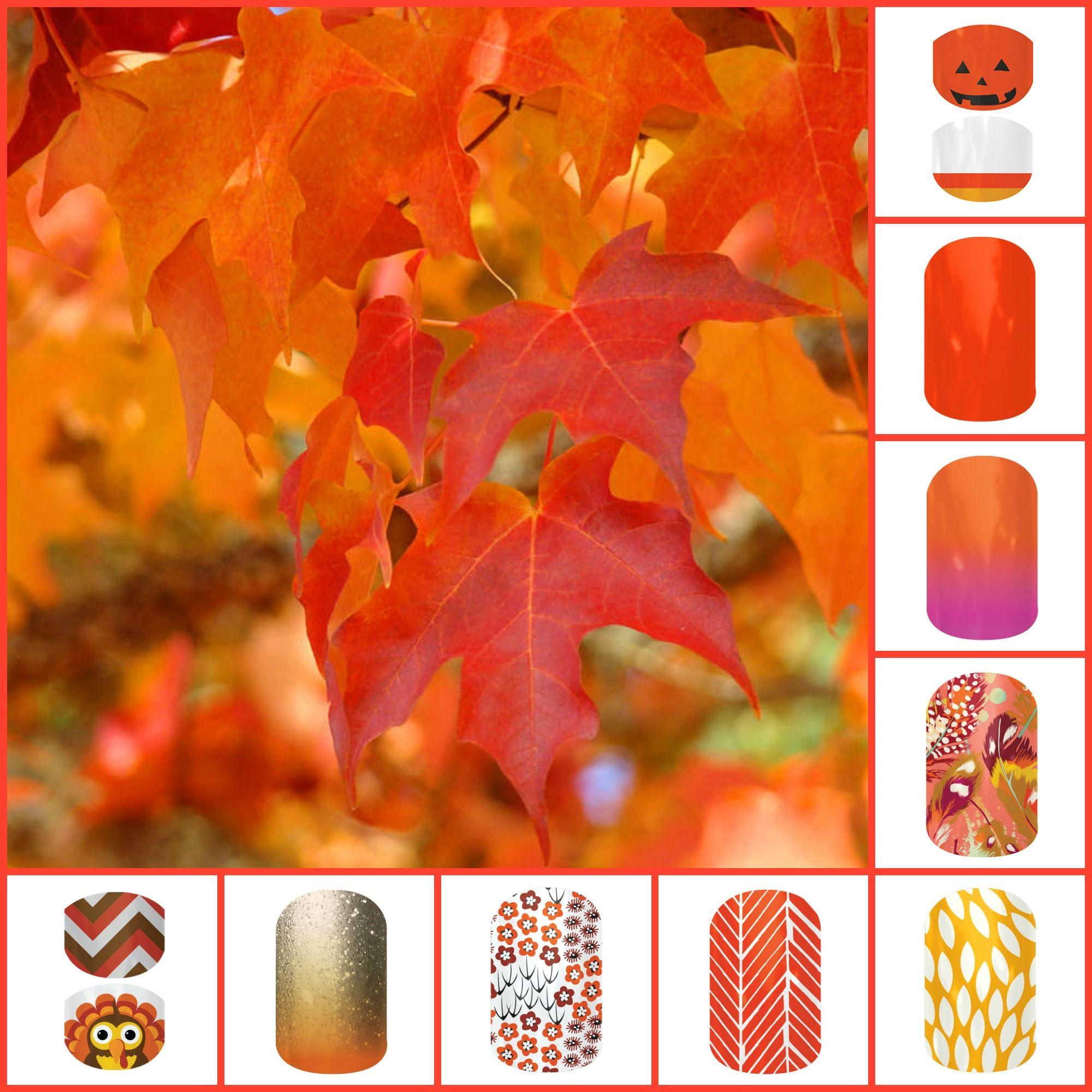 Charming Fruit Punch Tree Part - 14: Fall Tree Leaves Art Prints Orange Red Autumn By Baslee Troutman