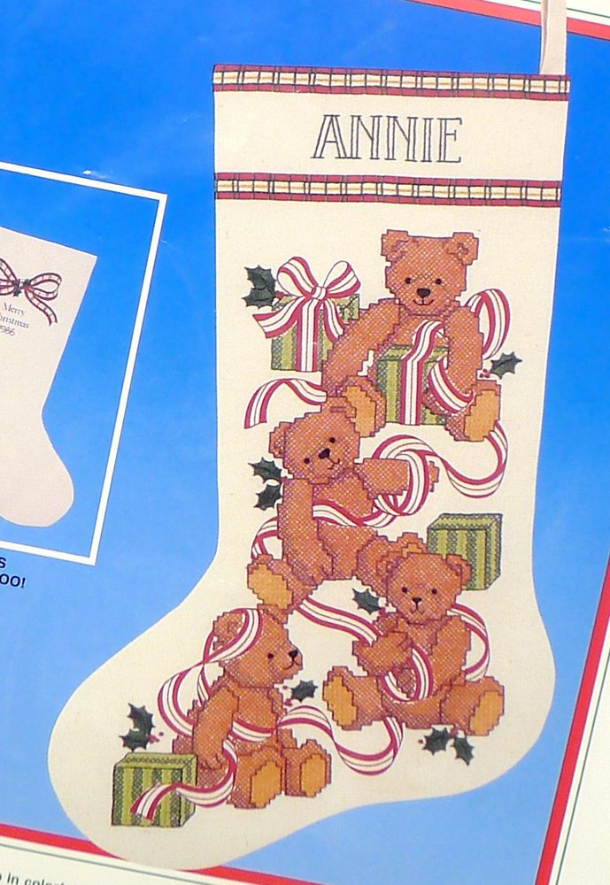 Stamped Cross Stitch Christmas Stocking Kits