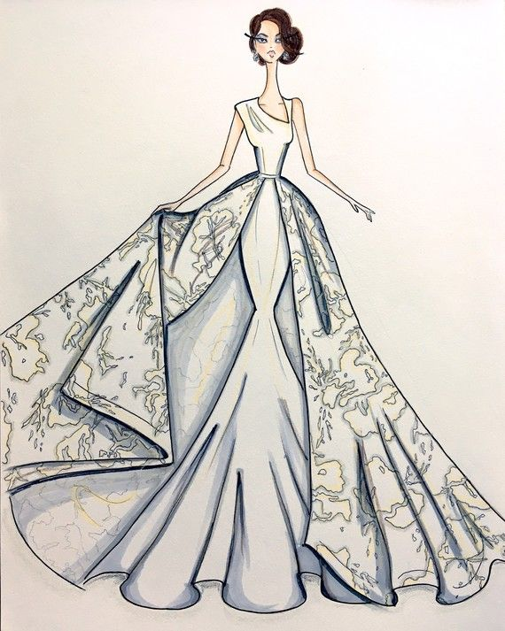 Exclusive Get A Sneak Peek At The Fall 2017 Bridal Collections Dress Design Sketches Fashion Design Drawings Fashion Sketches