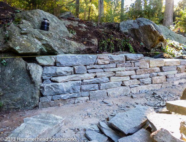 Biltmore Forest stonework project underway Stone Pinterest