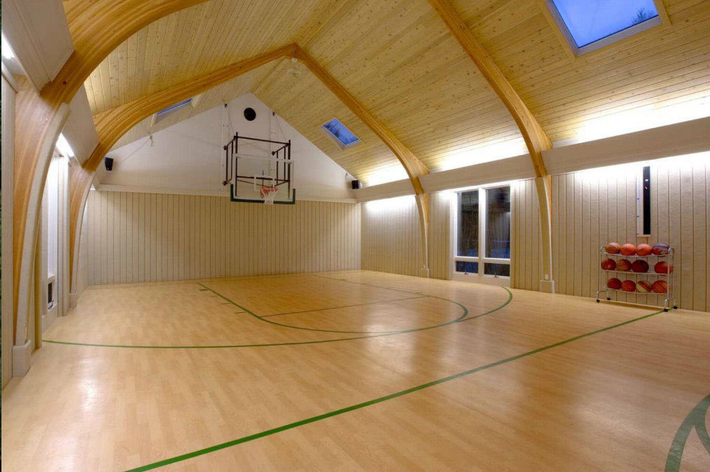 Mansion with indoor basketball court  Indoor Basketball Courts | Homes of the Rich – The Web's #1 Luxury ...
