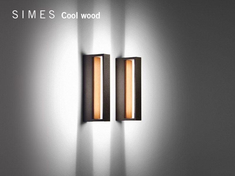 COOL WOOD Applique in alluminio e legno by SIMES design Matteo Thun