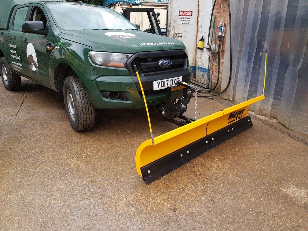 Ford Ranger Fitted With Meyer Pathpro 2 Snow Plough Receiver
