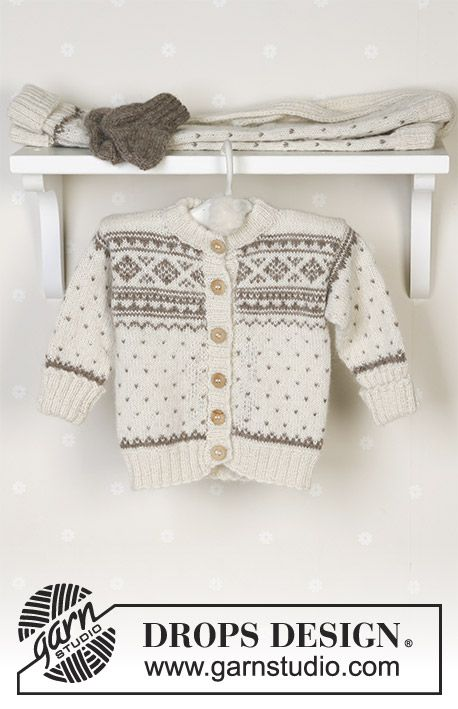 Winter Snuggles / DROPS Baby 13-5 - Jacket, trousers, hat, mittens ...