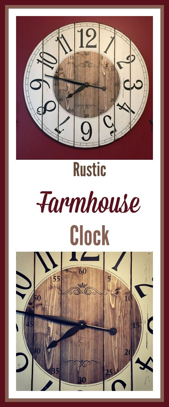 Rustic clock wall decor   Farmhouse clock for living room walls ...