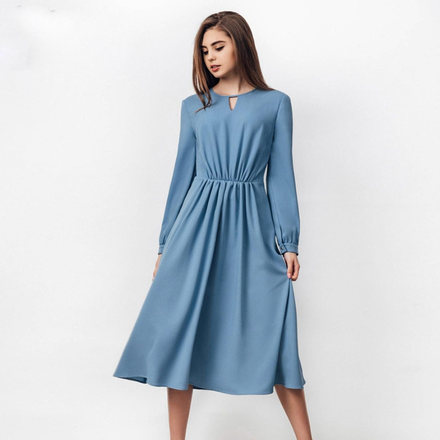 eabf822b4b7f0 Vintage Stitching Women Christmas Long Sleeve ALine Dresses ** Continue to  the product at the