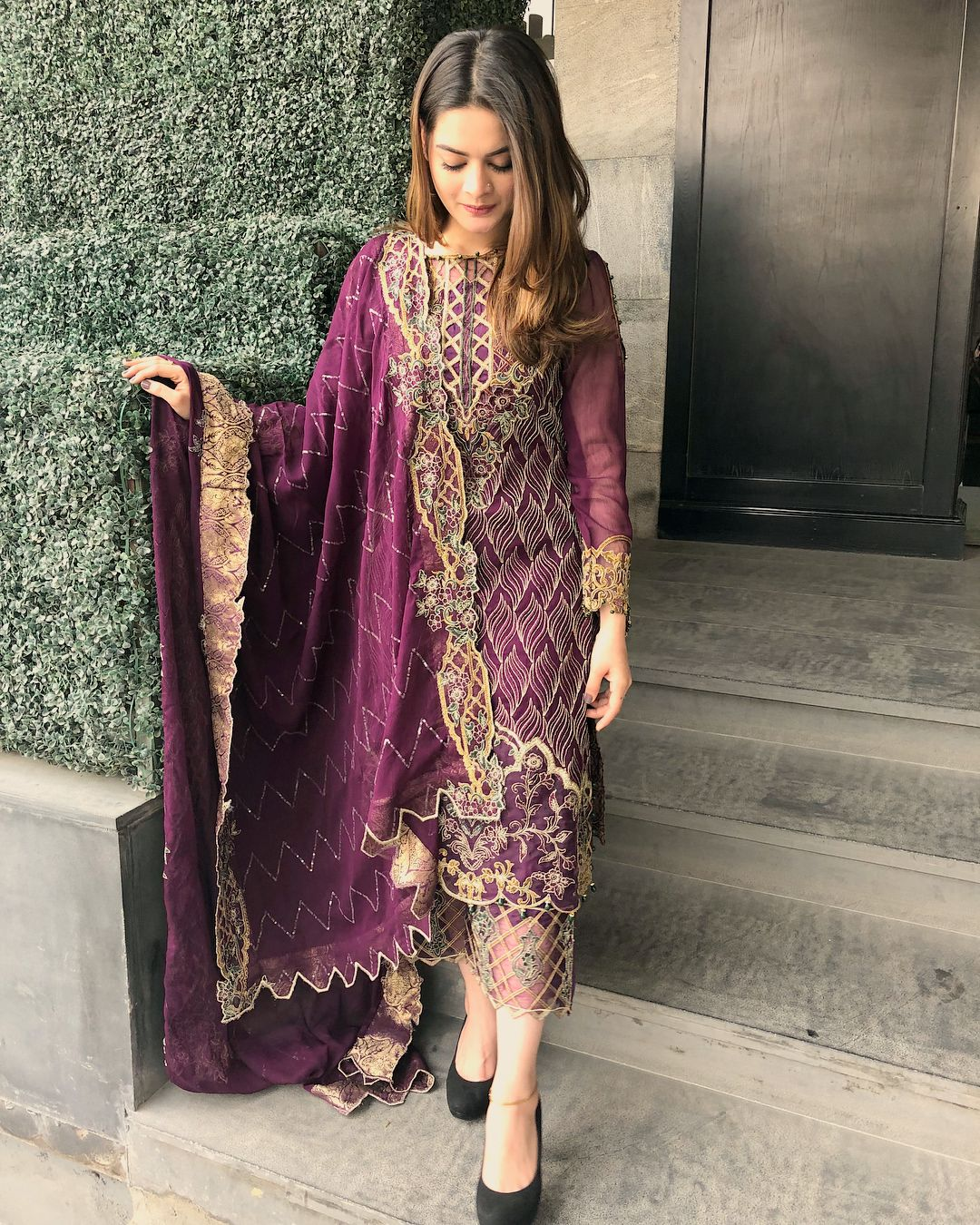 Purple dresses to wear to a wedding  Thankyou Sifonacollections fahmeenaaman sending this beautifull