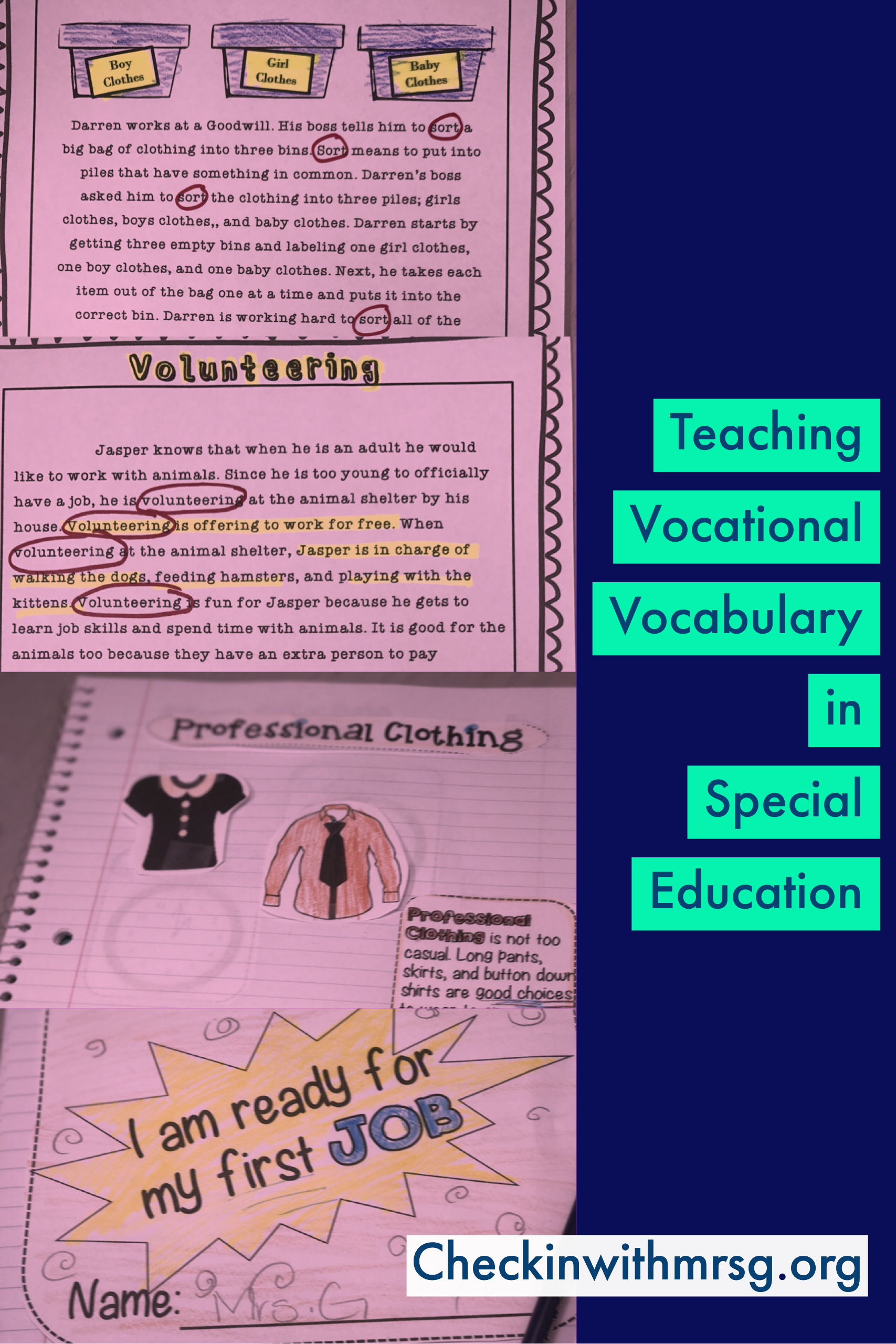 Teaching Vocational Concepts To Special Education Students