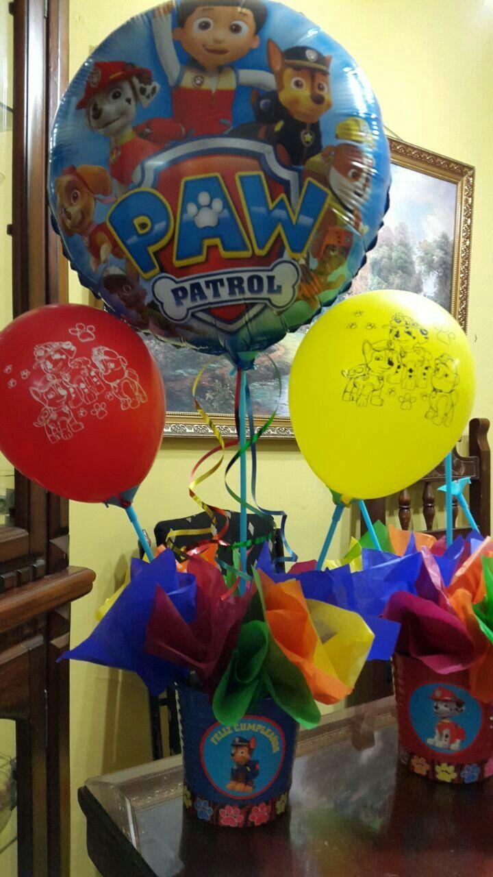 Centro de mesa paw patrol cumplea os paw patrol - Centros de mesa para cumpleanos ...