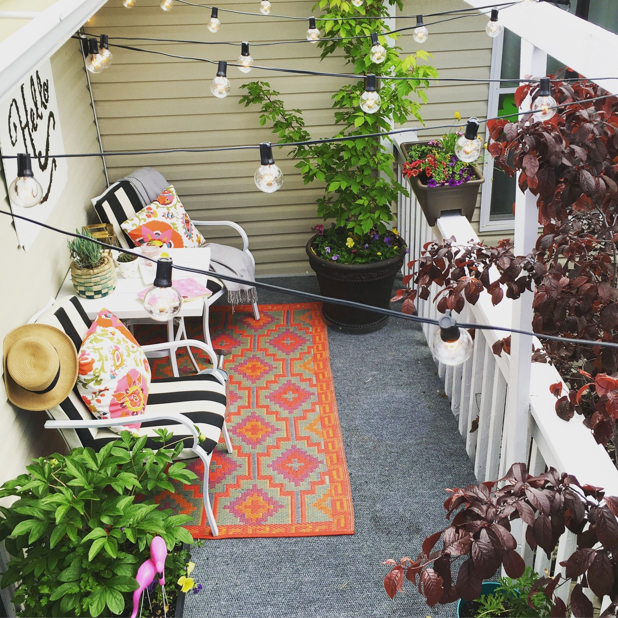 Ideas For How To Decorate A Patio For Cheap At Home With Ashley In 2020 Outdoor Deck Decorating Patio Budget Home Decorating