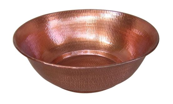 Hammered Copper Bowl Copper Bowl Bowl Stone Sink