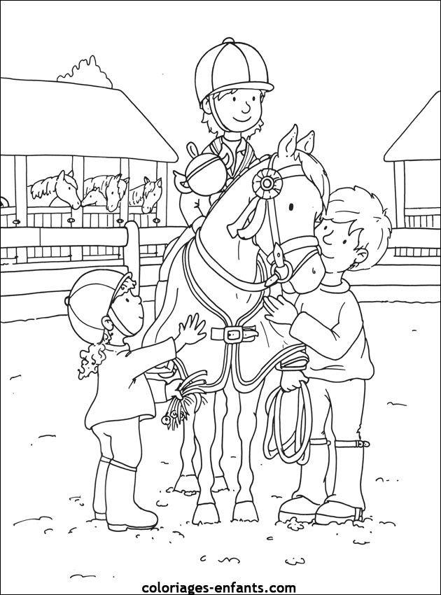 Les coloriages de equitation de coloriages coloring pages of horses horse - Poney coloriage ...