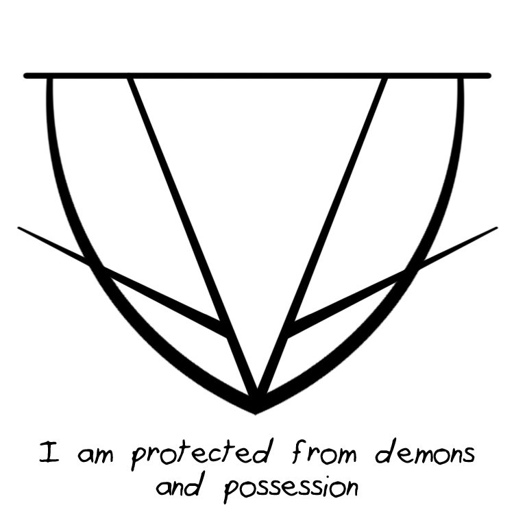 Sigil Athenaeum I Am Protected From Demons And Possession Sigil